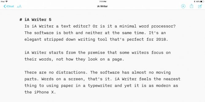 IA Writer 5 screen shot