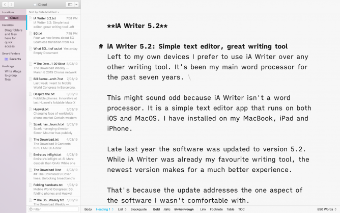 iA Writer 5.2 Macos white screen